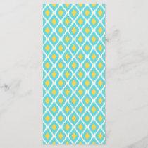 Trendy Blue Yellow Aztec Ikat Tribal Pattern