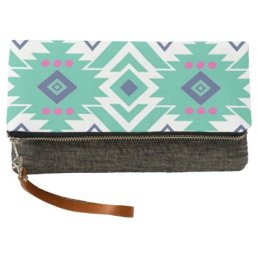 Aztec Themed Trendy Bohemian Aztec Tribal Clutch