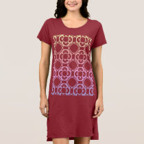 Trendy Boho Style T-Shirt Dress Ipanema Colors