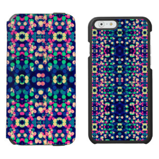 Trendy Bokeh Christmas Lights Funk Hipster Pattern iPhone 6/6s Wallet Case