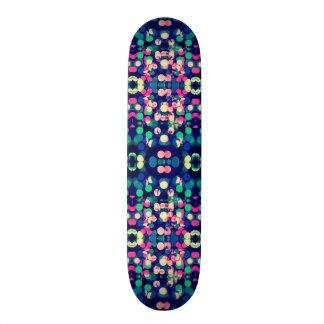Trendy Bokeh Christmas Lights Funk Hipster Pattern Skateboard