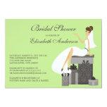 Trendy Bride Bridal Shower Invitation Green Gray