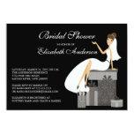 Trendy Bride Bridal Shower Invitation Peach Black
