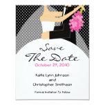 Trendy Bride & Groom Save The Date Invitation