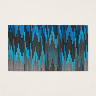 Trendy Bright Blue Black  ZigZag Chevron Pattern Business Card