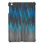 Trendy Bright Blue Black  ZigZag Chevron Pattern iPad Mini Case