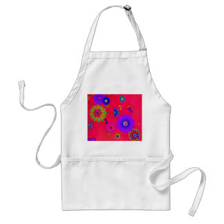 Trendy Bright Colored Floral Adult Apron