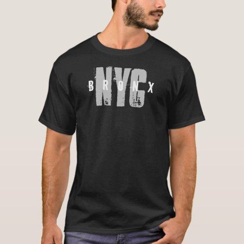 Trendy Bronx Nyc New York City Text Black Template T_Shirt