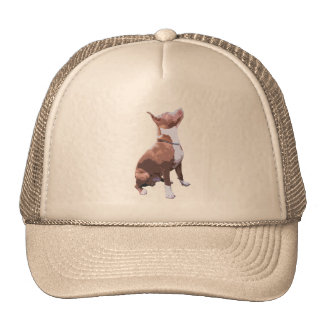 Trendy brown and white Pit Bull dog Trucker Hat
