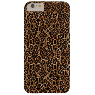 Trendy Brown Exotic Fur Pattern Leopard Print Barely There iPhone 6 Plus Case