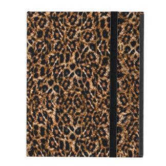 Trendy Brown Exotic Fur Pattern Leopard Print iPad Covers