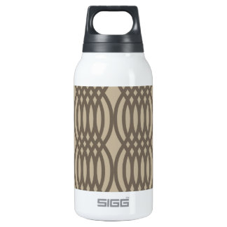 Trendy Brown Moroccan Chain Pattern Thermos Bottle