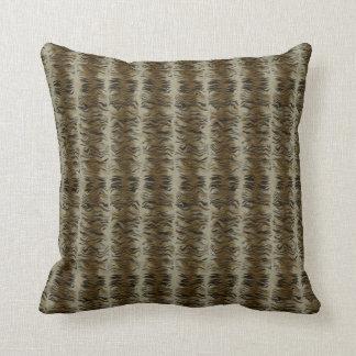 Trendy Brown Tiger Print Pattern Pillow