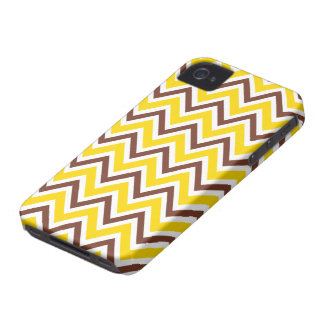 Trendy brown yellow zigzag chevron pattern case