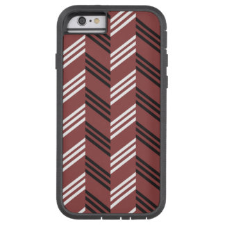 Trendy Brownish Red Zigzag Geometric Pattern Tough Xtreme iPhone 6 Case