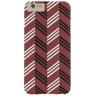 Trendy Brownish Red Zigzag Geometric Pattern Barely There iPhone 6 Plus Case