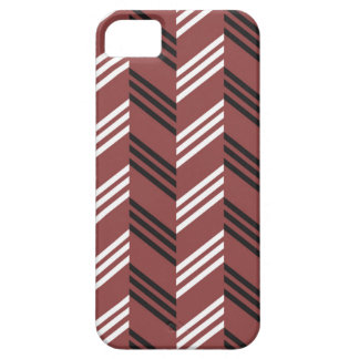 Trendy Brownish Red Zigzag Geometric Pattern iPhone 5 Cases