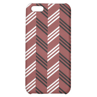 Trendy Brownish Red Zigzag Geometric Pattern iPhone 5C Cover