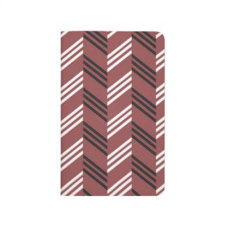 Trendy Brownish Red Zigzag Geometric Pattern Journal