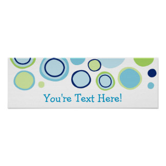 Trendy Bubble Gum Dots Personalized Banner Sign Posters