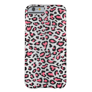trendy bubble gum pink leopard animal print barely there iPhone 6 case