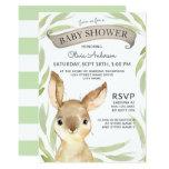 Trendy Bunny Rabbit Theme Baby Shower Invitation