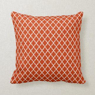 Trendy Burnt Orange Moroccan Pattern Throw Pillow