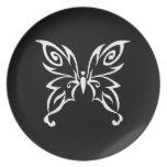 Trendy Butterfly Design Dinner Plate