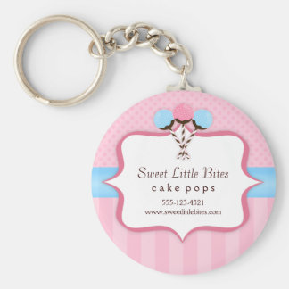 Trendy Cake Pop Bakery Keychain