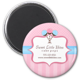 Trendy Cake Pop Bakery Labels 2 Inch Round Magnet