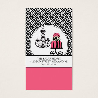 Trendy Cakery Zebra Print Business Cards