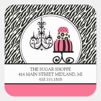 Trendy Cakery Zebra Print Product Label Stickers