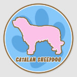 Trendy Catalan Sheepdog Stickers