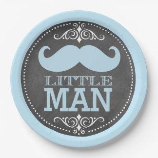 Trendy Chalkboard Little Man Paper Plate