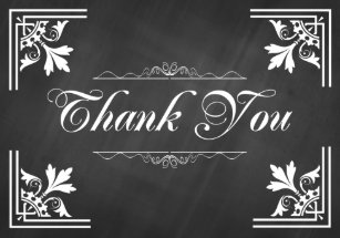 chalk thank you cards zazzle