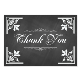 Trendy Chalkboard Thank You Cards
