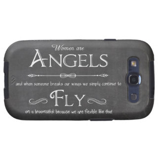 Trendy Chalkboard Women Are Angels Design Samsung Galaxy S3 Covers