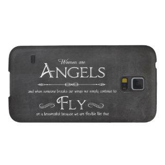 Trendy Chalkboard Women Are Angels Design Galaxy S5 Case