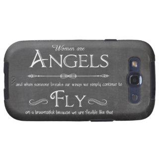 Trendy Chalkboard Women Are Angels Design Samsung Galaxy S3 Case