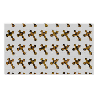 Trendy Cheetah Glitter Crosses Printed Image Business Card