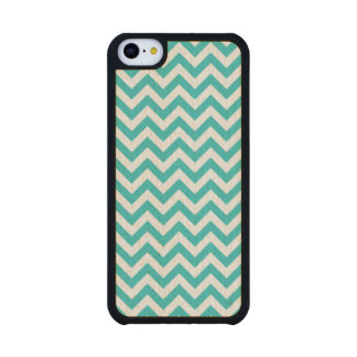 Trendy Chevron Carved iPhone 5C Slim Wood Case Carved® Maple iPhone 5C Case