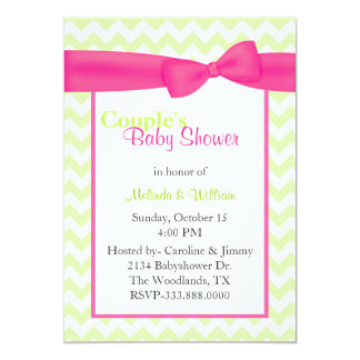 Trendy Chevron Couple's Baby Shower Invitation