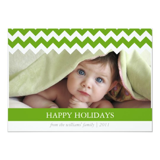 Trendy Chevron Holiday Card