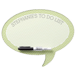 Trendy Chevron Pattern with Custom Name To Do List Dry-Erase Board