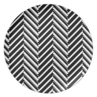 Trendy chevron patterned plate