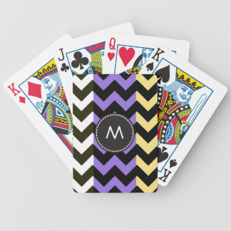 Trendy Chevron Zigzag Pattern 10 Bicycle Playing Cards