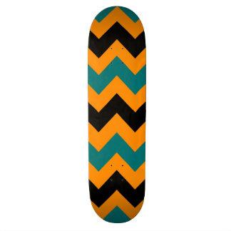 Trendy Chevron Zigzag Pattern 3 Skateboard Deck