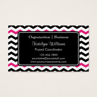 Trendy Chevron Zigzag Pattern Business Cards