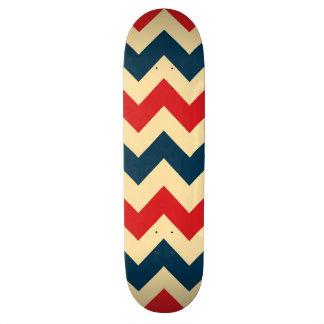 Trendy Chevron Zigzag Pattern Skateboard