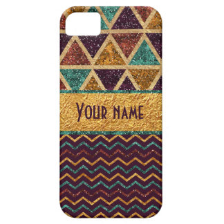 Trendy Chevrons Triangles Faux Gold Foil Glitter iPhone SE/5/5s Case